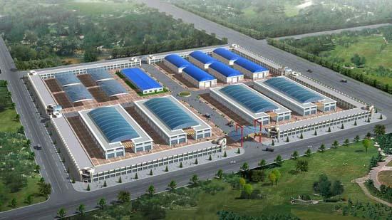 海城天成建材市场二期扩建工程项目示意图